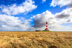 Lighthouse Westerheversand Stock Photography