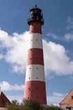 Lighthouse Westerheversand in Westerhever Royalty Free Stock Image