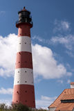 Lighthouse Westerheversand in Westerhever Stock Photography