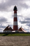 Lighthouse Westerheversand in Westerhever Stock Image
