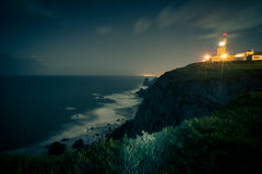 The lighthouse at the westernmost point of Europe, at Cape Roca Royalty Free Stock Photos