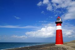 Lighthouse. Westkapelle, Netherlands Royalty Free Stock Image