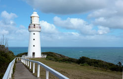 Lighthouse. The white lighthouse of cape Otway Royalty Free Stock Images