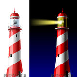 Lighthouse on white and dark Stock Photography