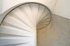 Lighthouse white staircaise Royalty Free Stock Photos