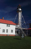 Lighthouse at Whitefish Point. Being repaired Stock Photography