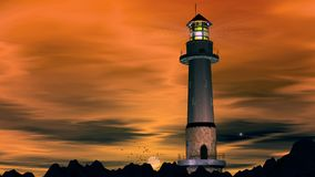 Lighthouse, wide Stock Image