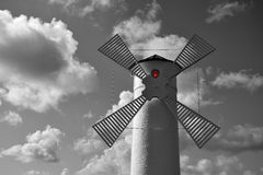 Lighthouse - windmill against the sky - Swinoujscie Royalty Free Stock Images