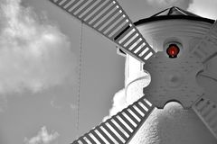 Lighthouse - windmill against the sky - Swinoujscie Royalty Free Stock Photo