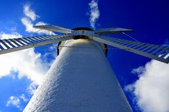 Lighthouse - windmill against the sky - Swinoujscie Royalty Free Stock Photography