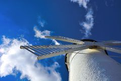 Lighthouse - windmill against the sky - Swinoujscie Stock Photos