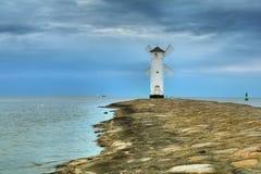 Free Lighthouse Windmill Stawa Mlyny In Swinoujscie, Stock Images - 63415004