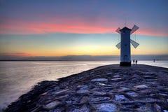 Free Lighthouse Windmill Stawa Mlyny In Swinoujscie, Stock Photography - 63415272