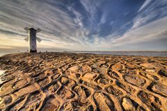 Lighthouse windmill Stawa Mlyny in Swinoujscie, Stock Photos