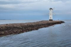 Lighthouse windmill Stawa Mlyny in Swinoujscie, Stock Images