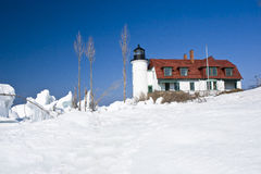 Lighthouse in winter Royalty Free Stock Photography