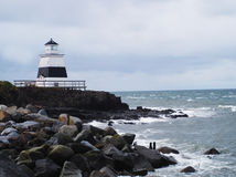 Lighthouse during the winter season stock photos