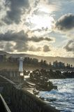 Lighthouse in Wollongong Australia. South of Sydney stock photo
