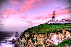 Lighthouse at the World's End Stock Photography