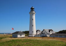 Lighthouse at the world war museum in Hirtshals Royalty Free Stock Photography