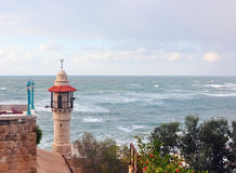 Lighthouse at Yaffa. Lighthouse in Yaffa on the meddeteranean sea ground Royalty Free Stock Photos