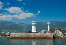 Lighthouse in Yalta, Crimea. Stock Image