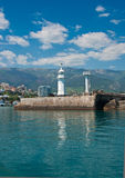 Lighthouse in Yalta, Crimea. Stock Images