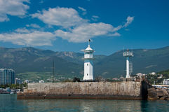 Lighthouse in Yalta, Crimea. Royalty Free Stock Image