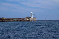 Lighthouse in Yalta. Crimea. Royalty Free Stock Photography