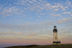 Lighthouse at Yaquina Head. Lighthouse Yaquina Head, Newport, Oregon stock photo