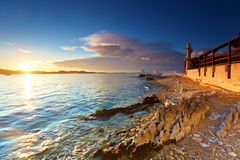 Lighthouse in Zadar Stock Photography