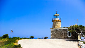 Lighthouse in Zakynthos island, Greece Royalty Free Stock Photo