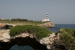 Lighthouse2. Lighthouse in portocolom, mallorca Stock Photography