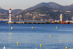 Lighthouses in Cannes Royalty Free Stock Images