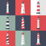 Lighthouses icons Royalty Free Stock Photo