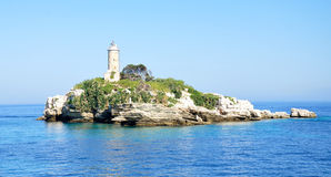 Lighthouses in the Ionian Sea Royalty Free Stock Image