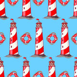 Lighthouses and lifebuoys Royalty Free Stock Images