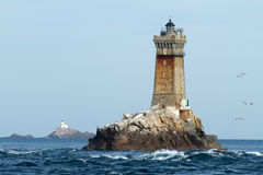 Lighthouses in ocean royalty free stock photos