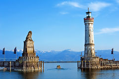 Lighthouses in ocean Royalty Free Stock Images