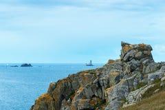 Lighthouses at Pointe du Raz (France) Royalty Free Stock Image