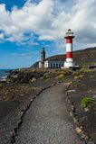 Lighthouses, Punto de Fuencaliente, La Palma. Canary islands, spain Stock Images