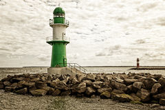 Lighthouses at Rostock-Warnemunde Stock Photography