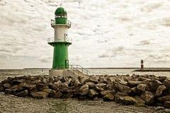 Lighthouses at Rostock-Warnemunde Stock Photography