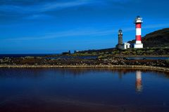 Lighthouses and salt works Stock Images
