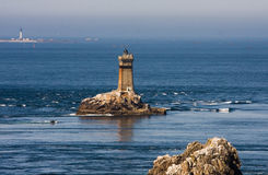 Lighthouses in the sea Royalty Free Stock Images