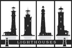 Lighthouses set. Stock Photos