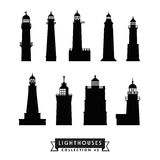 Lighthouses silhouette collection 2 Stock Image