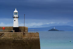 Lighthouses at St. Ives Royalty Free Stock Photography