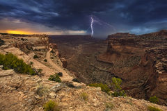 Lighting above the canyon in the USA Royalty Free Stock Photos