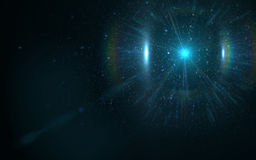 Lighting Abstract with digital lens flare. Lens flare with dust on black background vector illustration